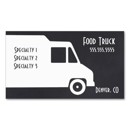 Food truck business card template qr code business card templates food truck business card template i love this design it is available for customization or ready to buy as is all you need is to add your business info to colourmoves