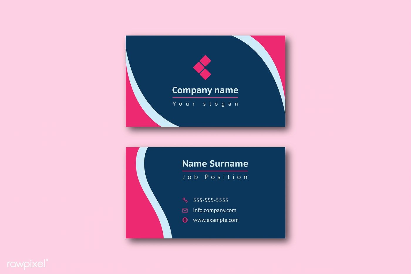 Business Card Template Front And Back Vector Free Image By Rawpixel Com Jan In 2021 Business Card Template Stationery Mockup Vector Free