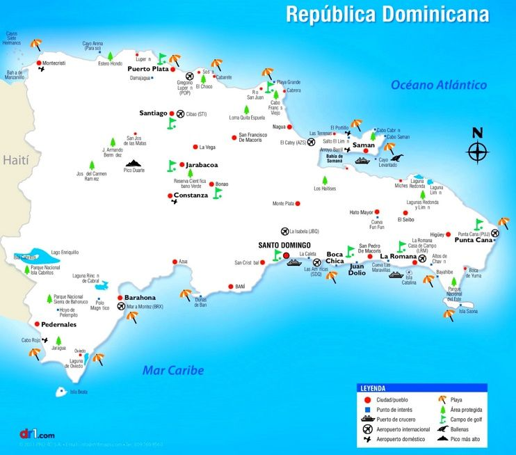 Dominican Republic sightseeing map Maps Pinterest Dominican