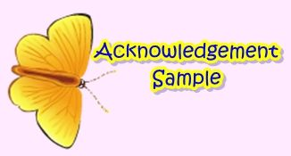 Acknowledgment Sample  Feasibility Study    Business