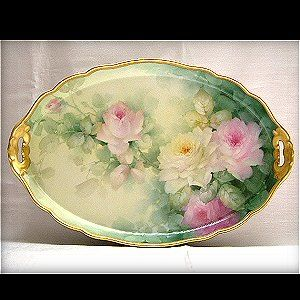 Mom's Rose Tray Study - Porcelain Painting Lessons