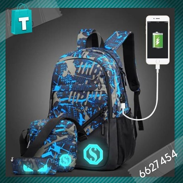 fee56f998b Luminous Laptop Backpack Now Available At Tudoholic Material  Waterproof  Oxford Cloth Bag Size  301545 cm Capacity  20-35 Liters Delivery service  available ...