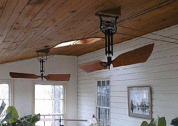 Fan Belt Driven Wooden Blade Mahogany Cedar Woolen
