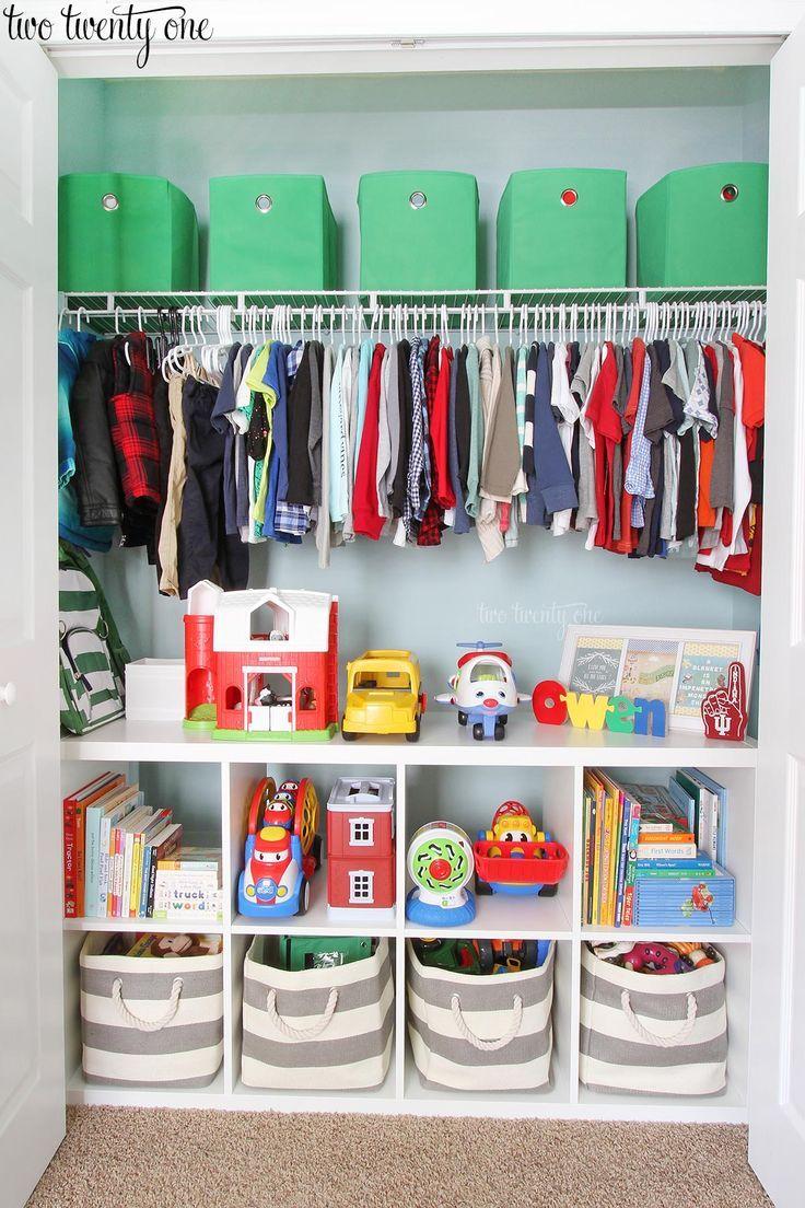 Organisierter Kleinkind-Schrank – Paige Griffiths - Tagliches Pin Blog #toddlerrooms