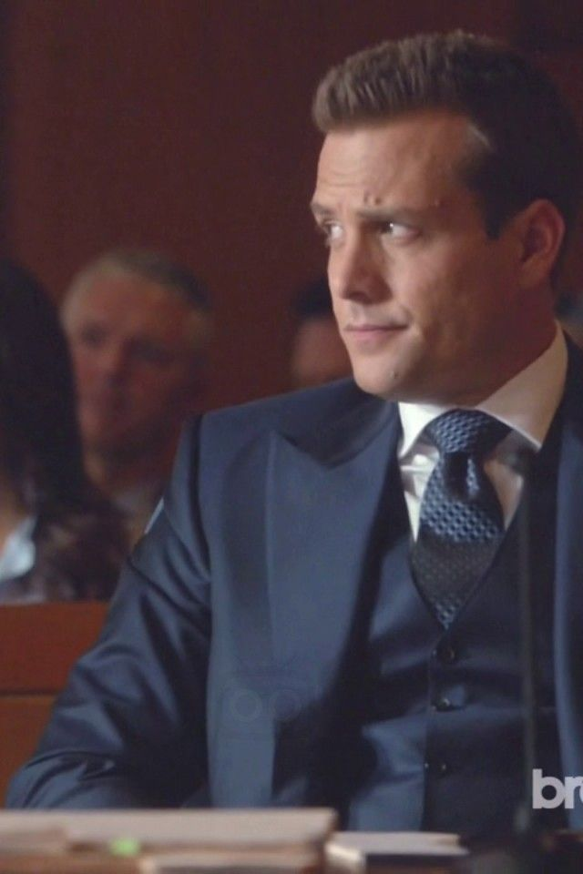 Harvey Specter Wearing Tom Ford Three Piece Peak Lapel