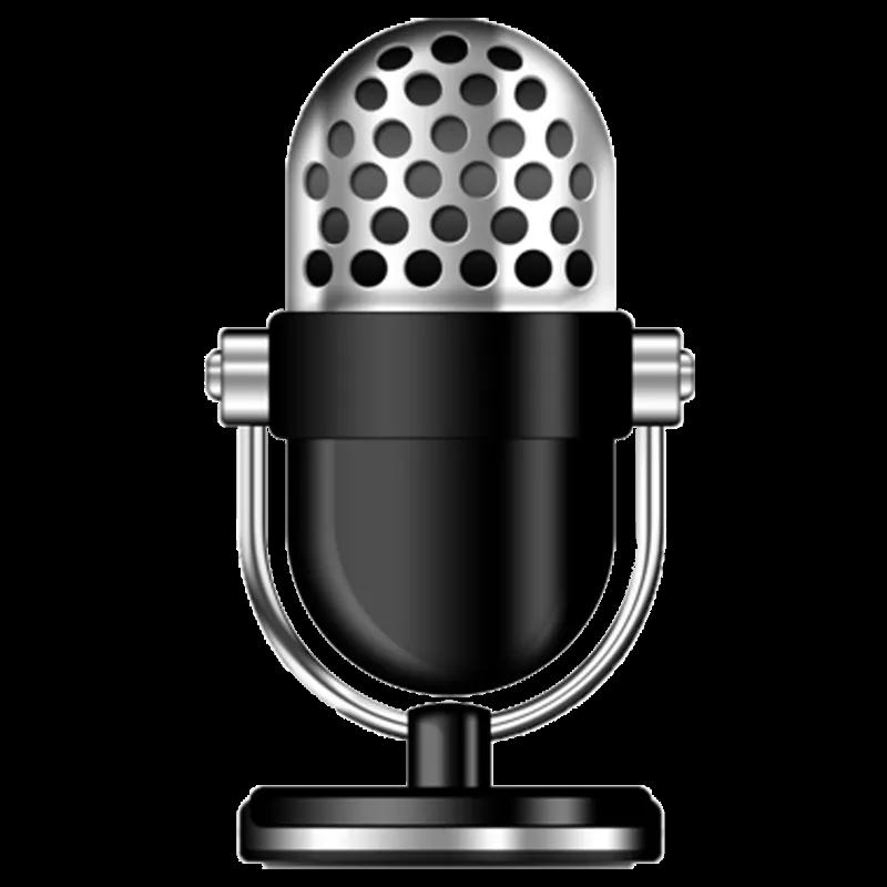 Desktop microphone no background image Background images