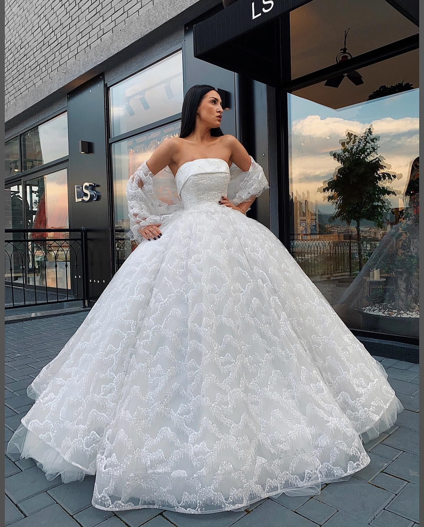 Custom Made Dresses Wedding And Bridesmaid Dresses Prom Gowns Online Puffy Wedding Dresses Ball Gowns Wedding White Ball Gowns