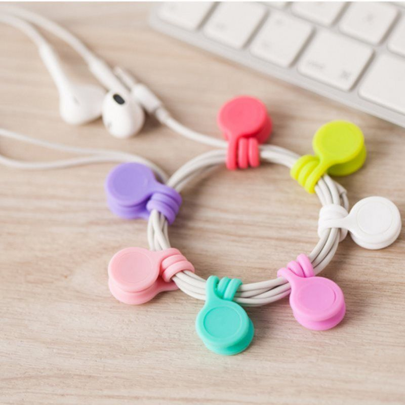 3pcs Magnet-ear Phone Headset Winder Wire Cord Cable Drop Clips ...