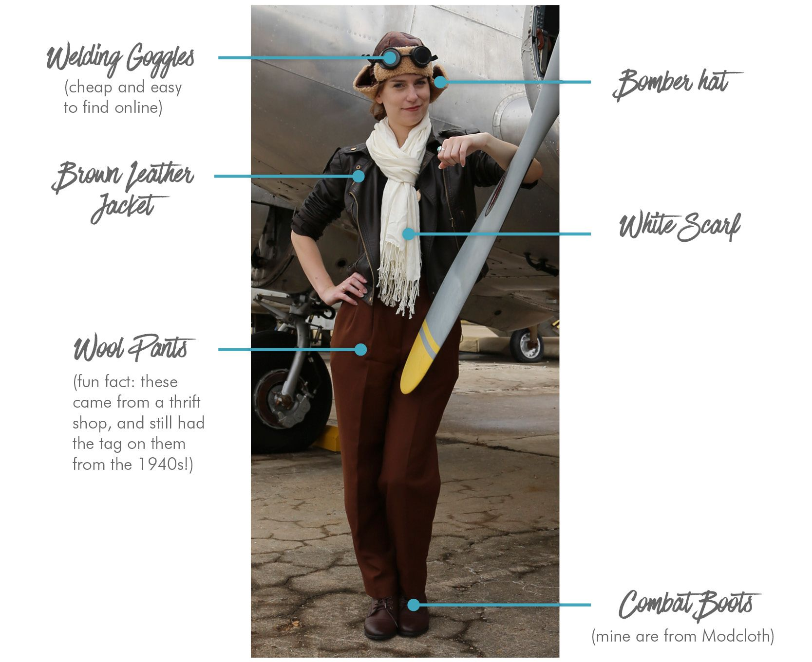 Transform Into Amelia Earhart This Halloween Nations Photo Lab Amelia Earhart Costume Amelia Earhart Costume Diy Costumes