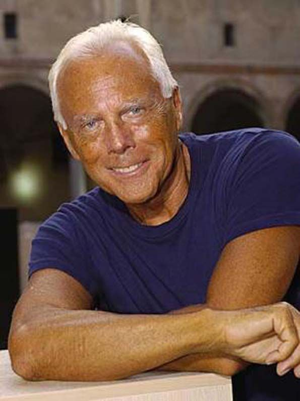 Giorgio Armani.  Always wondered what these great fashion designers looked like