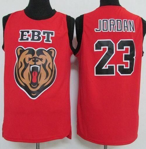 40208158b19b Chicago Bulls  23 Michael Jordan Red EBT High School Classic Stitched NBA  Jersey