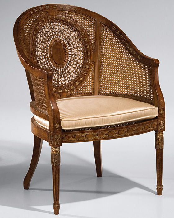 Vintage Armchair Styles: Regency Style Armchair With