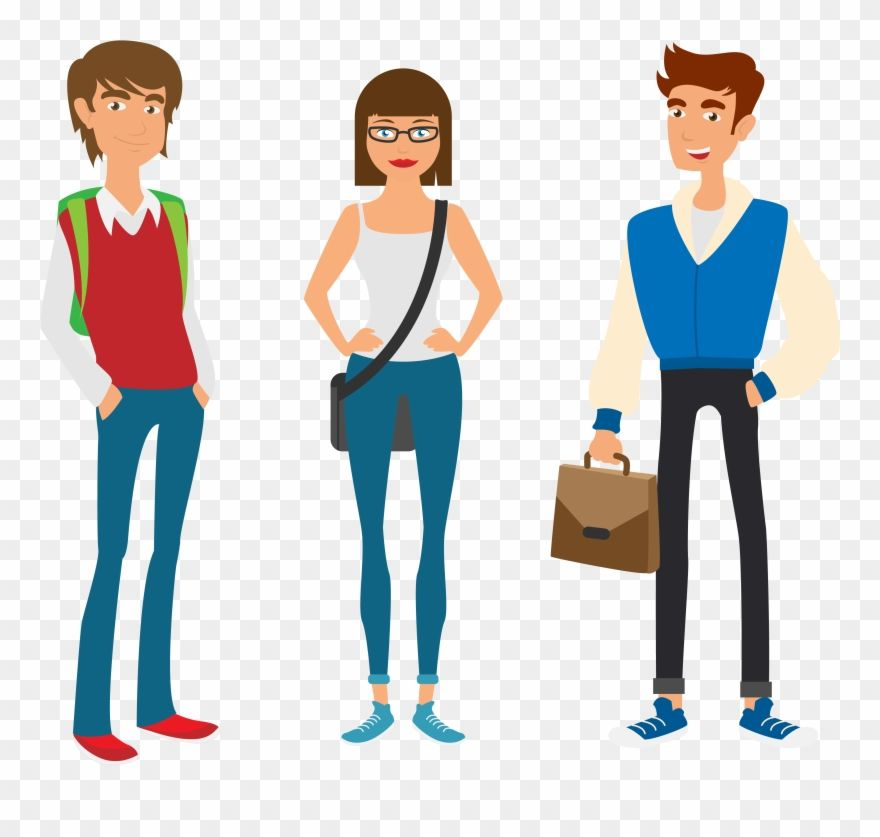Download Hd Student University Estudante College Instituto Universitxe1rio College Student Vector Png Clipart And Use Student Free Clip Art College Students