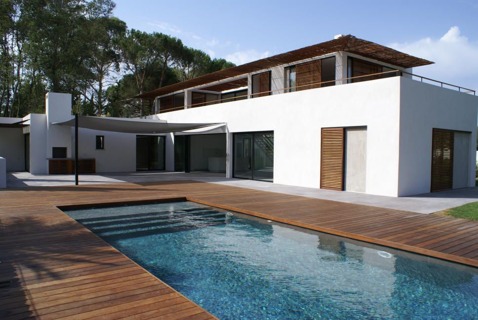 Maison toit plat Home Pinterest Architecture, Archi design and - bois pour terrasse piscine