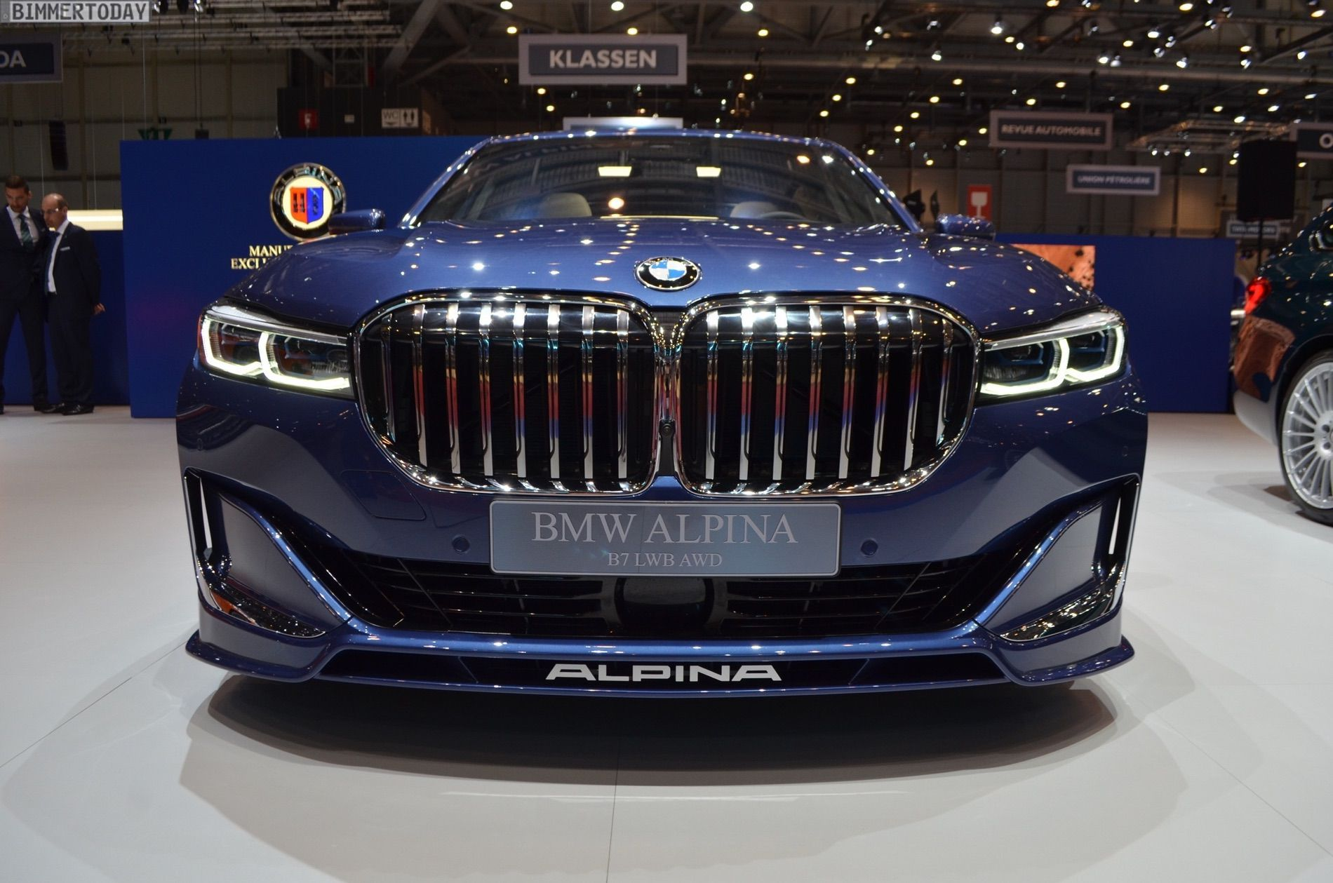 Geneva 2019 Live Photos Of Alpina B7 Facelift In Blue Color With