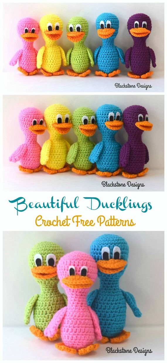 Amigurumi Beautiful Ducklings Crochet Free Patterns #minioncrochetpatterns