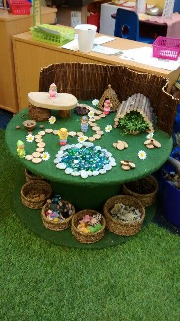 Fairy land small world loose parts invitation to play #smallworld #faries #freeplay #looseparts