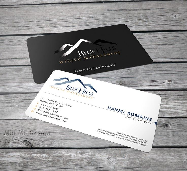 Blue Hills Wealth Management really needs a new business card ...