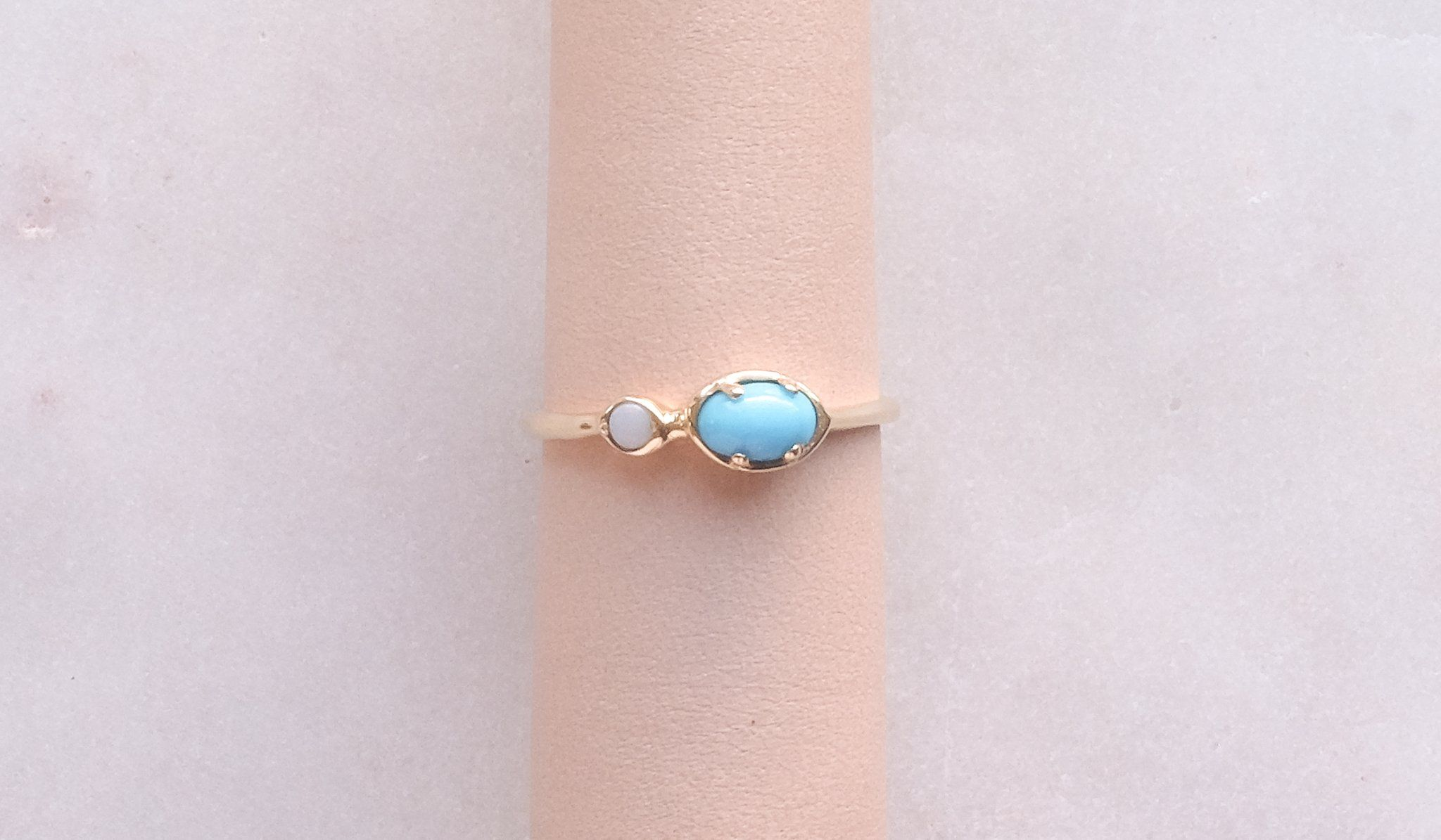 Kathryn Bentley Ellipse Dot Ring Turquoise Opal Jewelry Kathryn Bentley Spartan Shop Dot Ring Rings Turquoise Rings