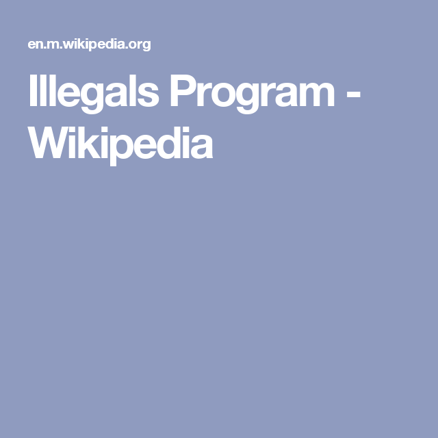 Illegals Program - Wikipedia | Cold War | Programming y Ios