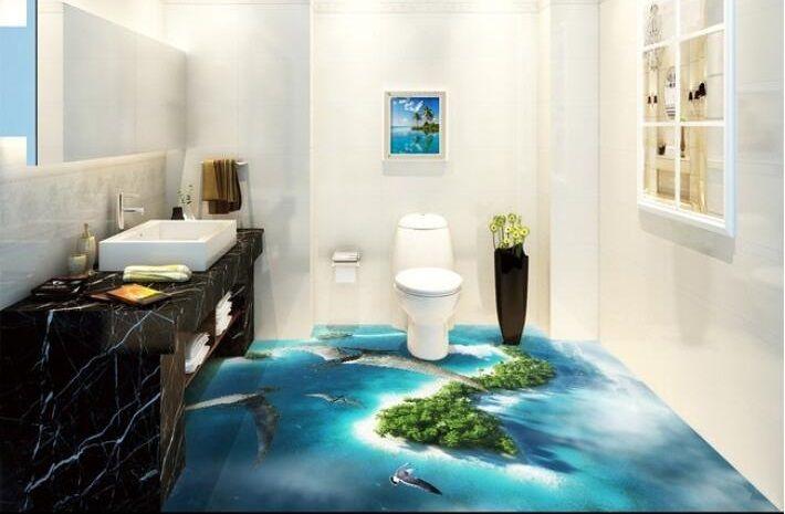 Bathroom 3d Flooring Art Designs For Epoxy Coating Floors In The Last