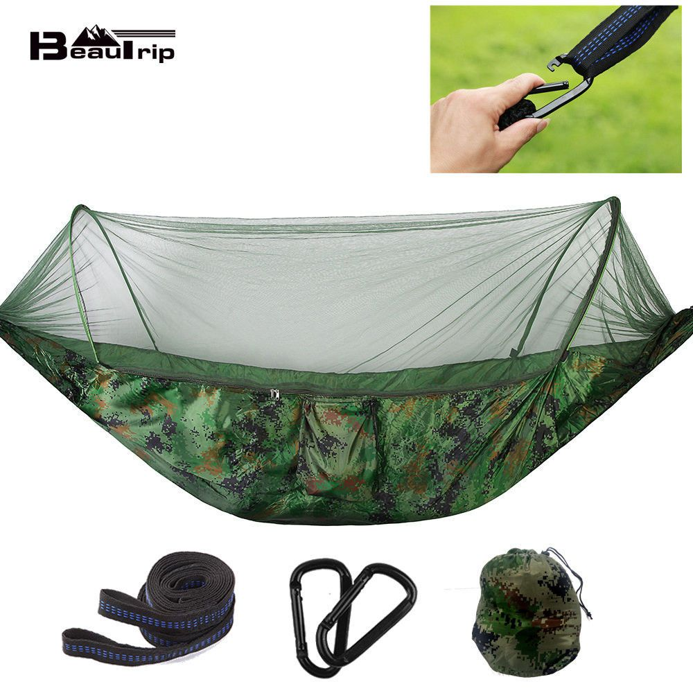 Outdoor Camping Hammock Chair With Mosquito Net Hanging Swing