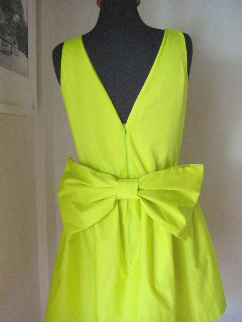 Neon bow dress my style pinterest neon yellow dresses and