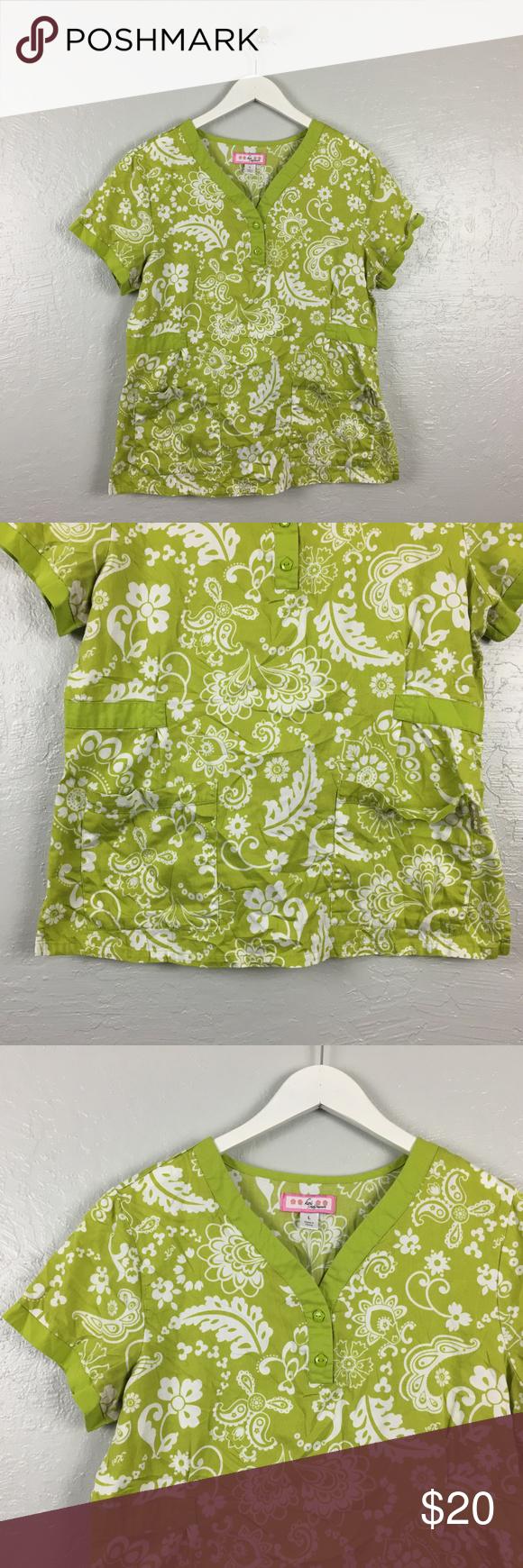 Mike S Koi Sleeve Chest Panel Unfinished Big Jpg 2400 3200: Koi Size L Kourtney Green White Printed Scrub Top Koi