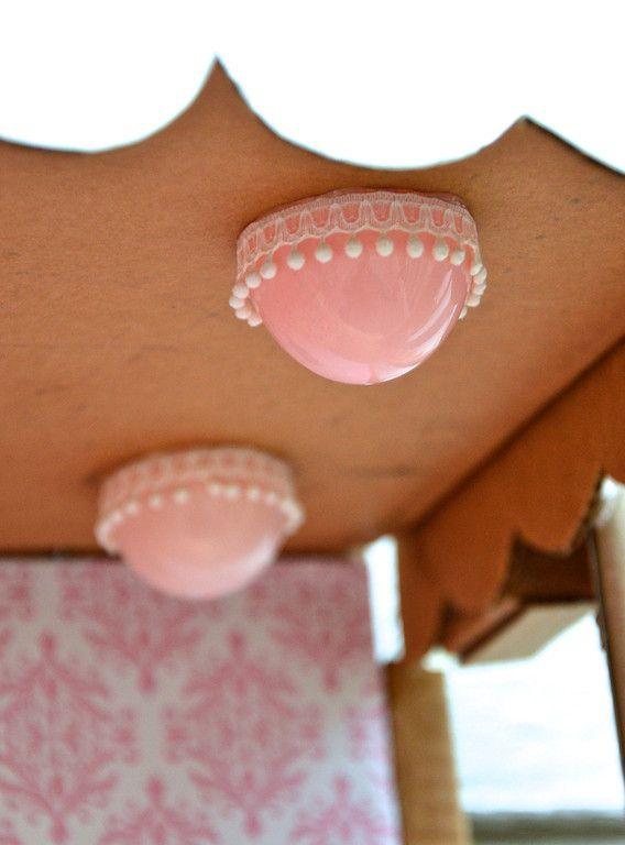ikat bag: Cardboard Barbie House  easter egg with trim for lights
