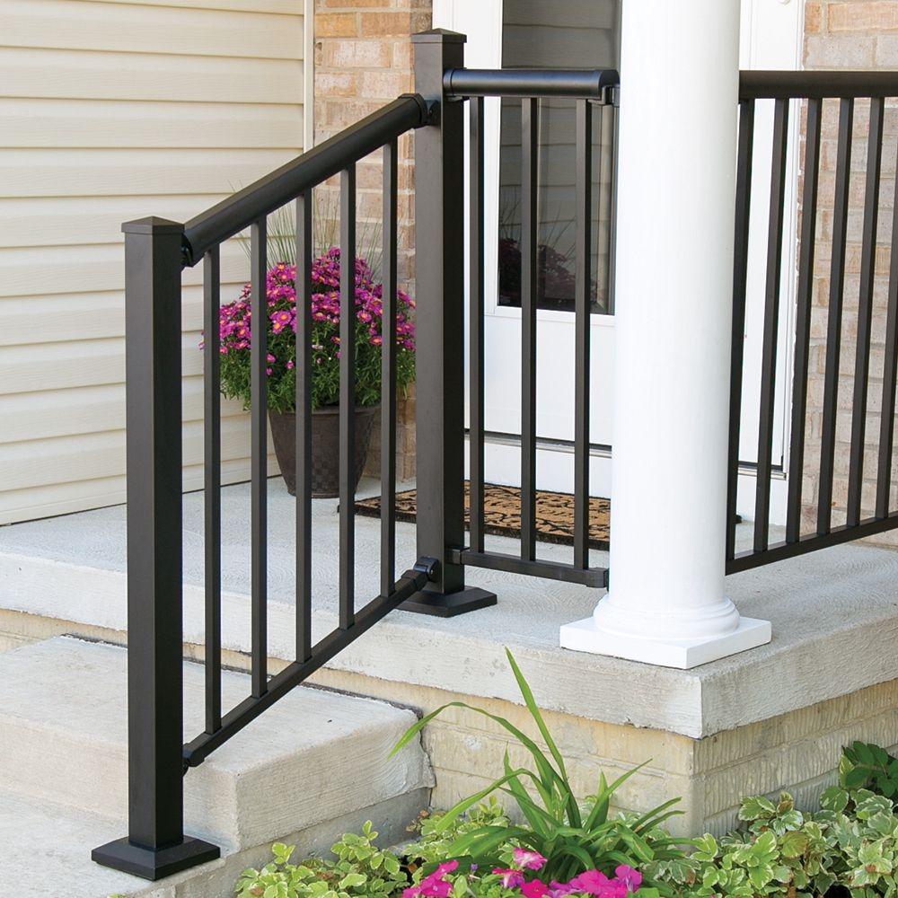Winchester Mix N Match Ready To Assemble Aluminum Stair Rail Kit | Aluminum Handrails For Outdoor Steps | Wrought Iron Railings | Baluster | Staircase | Freedom | Powder Coated Aluminum