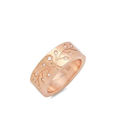 Look at this #zulilyfind! Rose Gold & Simulated Diamond Tree of Life Ring #zulilyfinds
