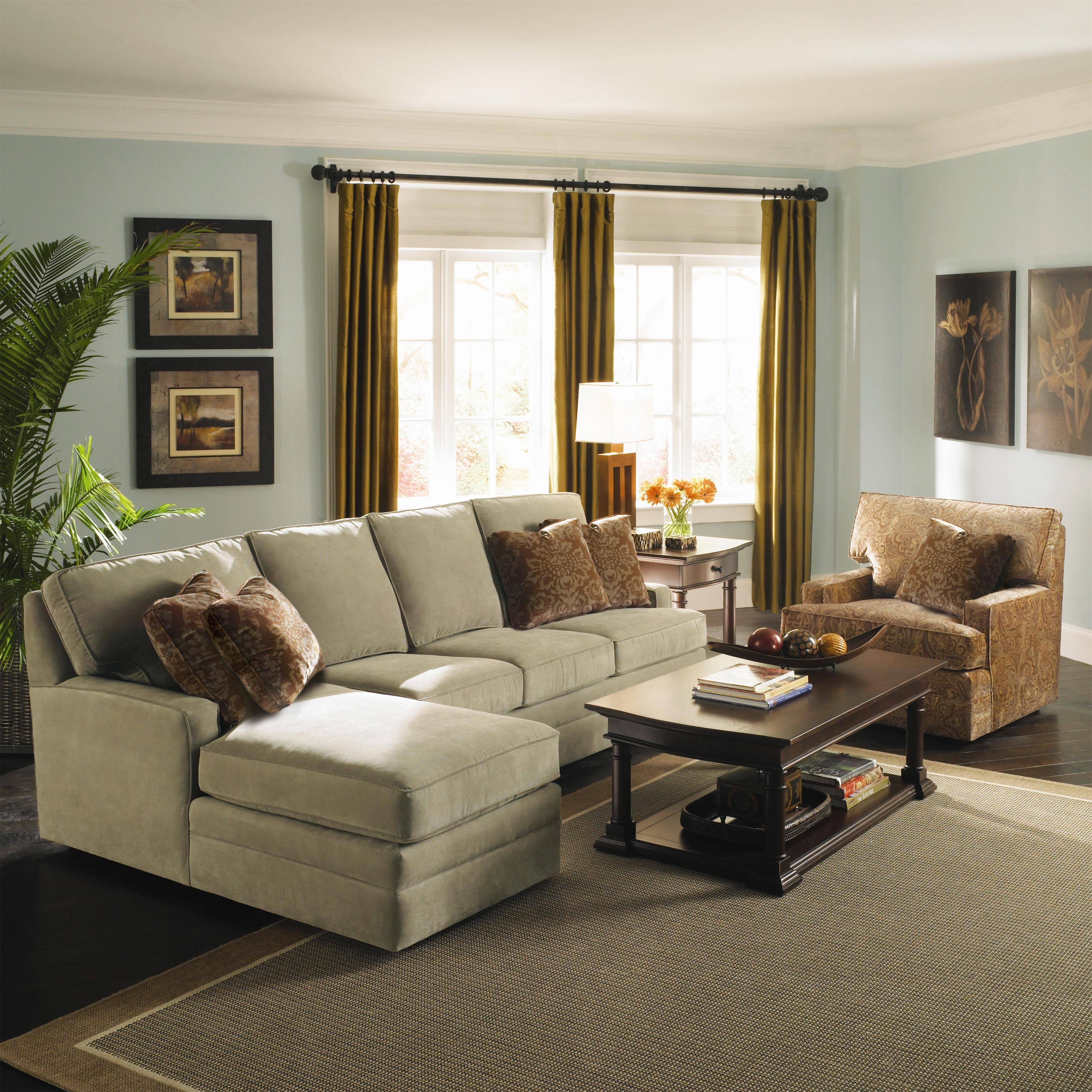 Custom Select Upholstery Custom 2 Piece Sectional With Chaise By