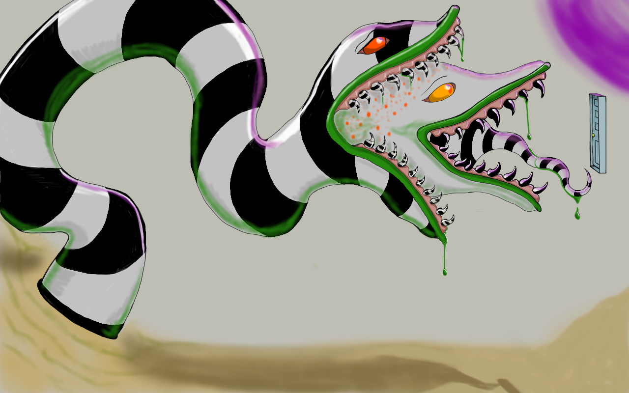 Beetlejuice Sandworm Digital Beetlejuice Sandworm Cartoon Art Beetlejuice