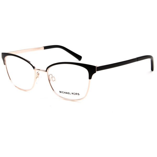 6603f347cf Michael Kors MK3012 ADRIANNA IV 1113 Eyeglasses ($135) ❤ liked on Polyvore  featuring accessories, eyewear, eyeglasses, cateye eyeglasses, rose gold  glasses ...