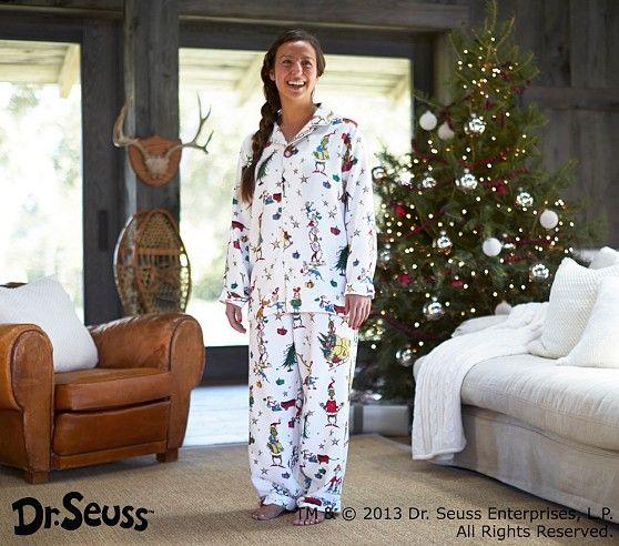 Adult Dr Seuss S The Grinch Pajama Pottery Barn Kids Grinch Pajamas Christmas Pajama Party Baby Kids