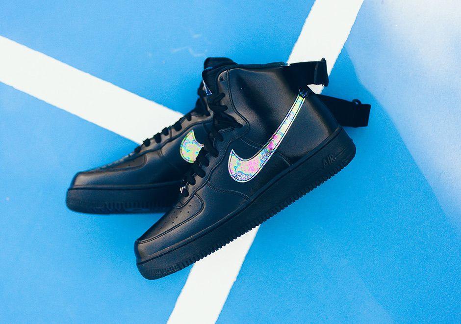 19113a5b8 Nike Air Force 1 High Iridescent Black | SHOE GAME GOALS | Nike air ...