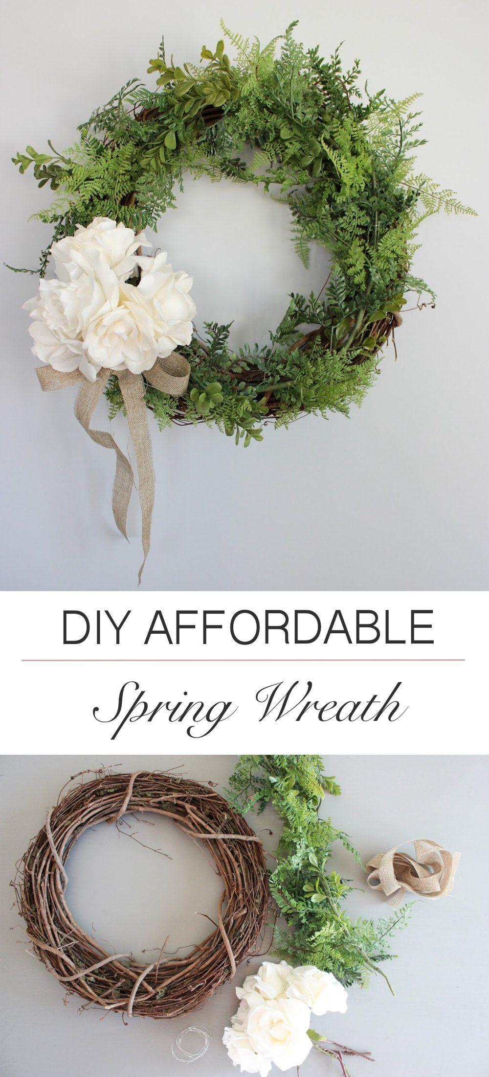 15 Creative Diy Spring Wreath Ideas To Brighten Your Door Inexpensive Wreaths Diy Spring Wreath Spring Diy
