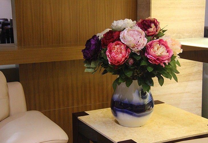 Alta calidad de simulación rey Peony Artificial flor de seda Home Party boda decoración de jardín en Flores y Guirnaldas Decorativas de Casa y Jardín en AliExpress.com   Alibaba Group