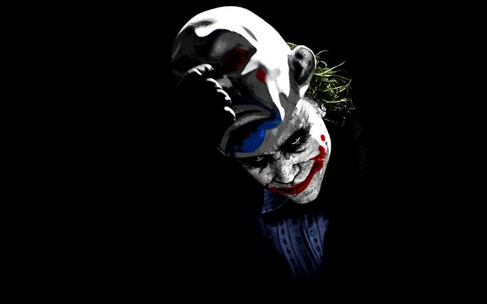 Download Wallpapers Joker 4k Supervillain Art Minimal Black