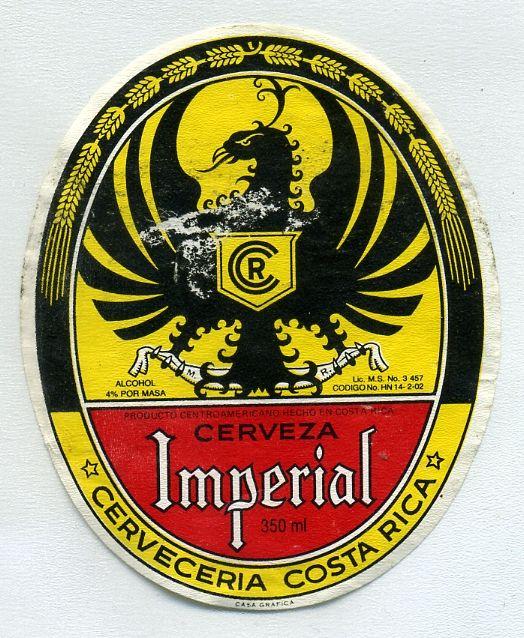 Cerveza Imperial Costa Rica Beer Label Beer Beer Ad