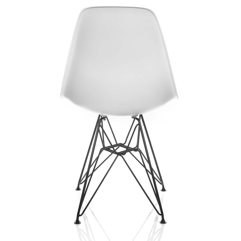 DSR Molded Plastic Dining Shell Chair With Black Eiffel Steel Leg