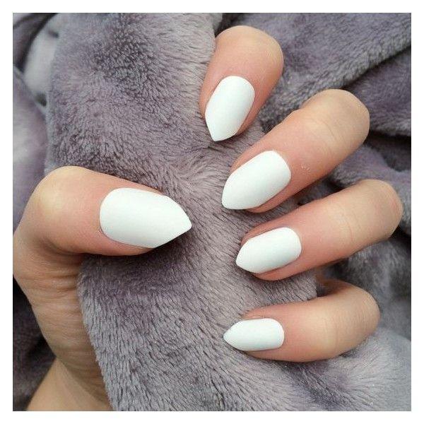 Doobys Short Stiletto Nails White Matte 24 Claw Point False Nails