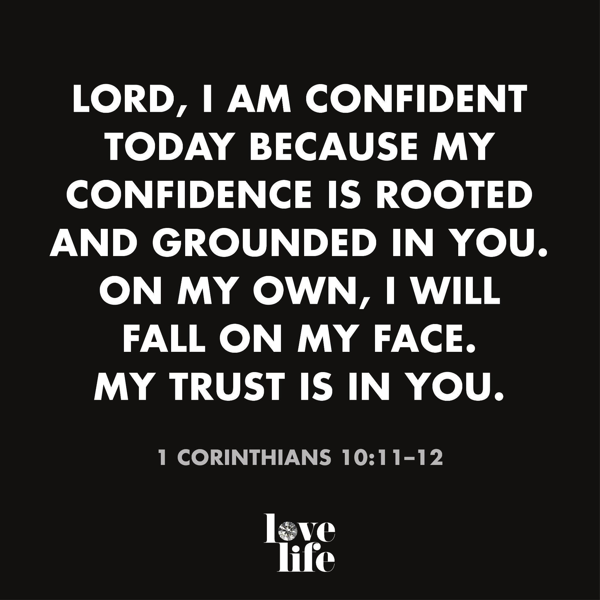 my confidence is rooted and grounded in the lord inspirational