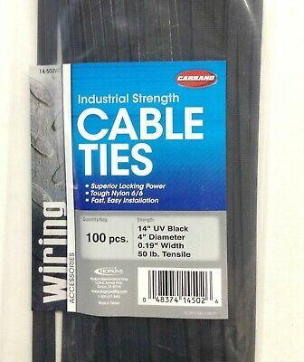 "1000 Kits 14/"" Inch  Cable Zip Ties Tensile Rating 50 lb."