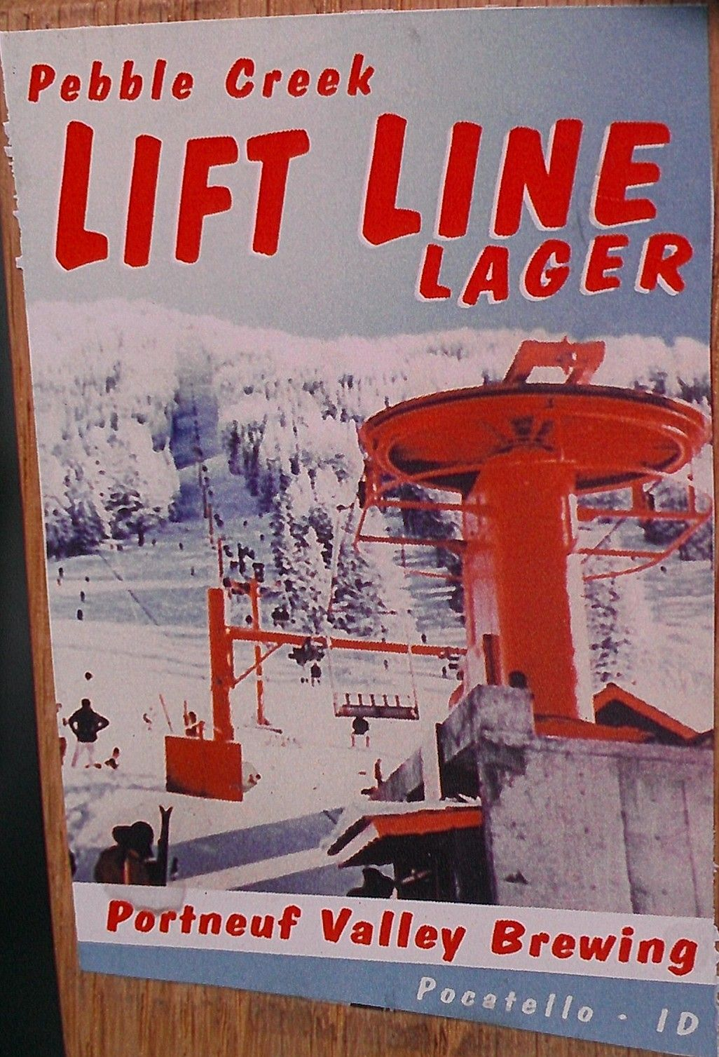 Love The Old Days Pic Of The Lift At Skyline Ski Area Before It Was Renamed To Pebble Creek Vintage Ski Posters Beer Poster Ski Posters