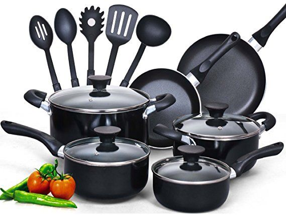 Cook N Home 15 Piece Nonstick Stay Cool Handle Cookware Set Best