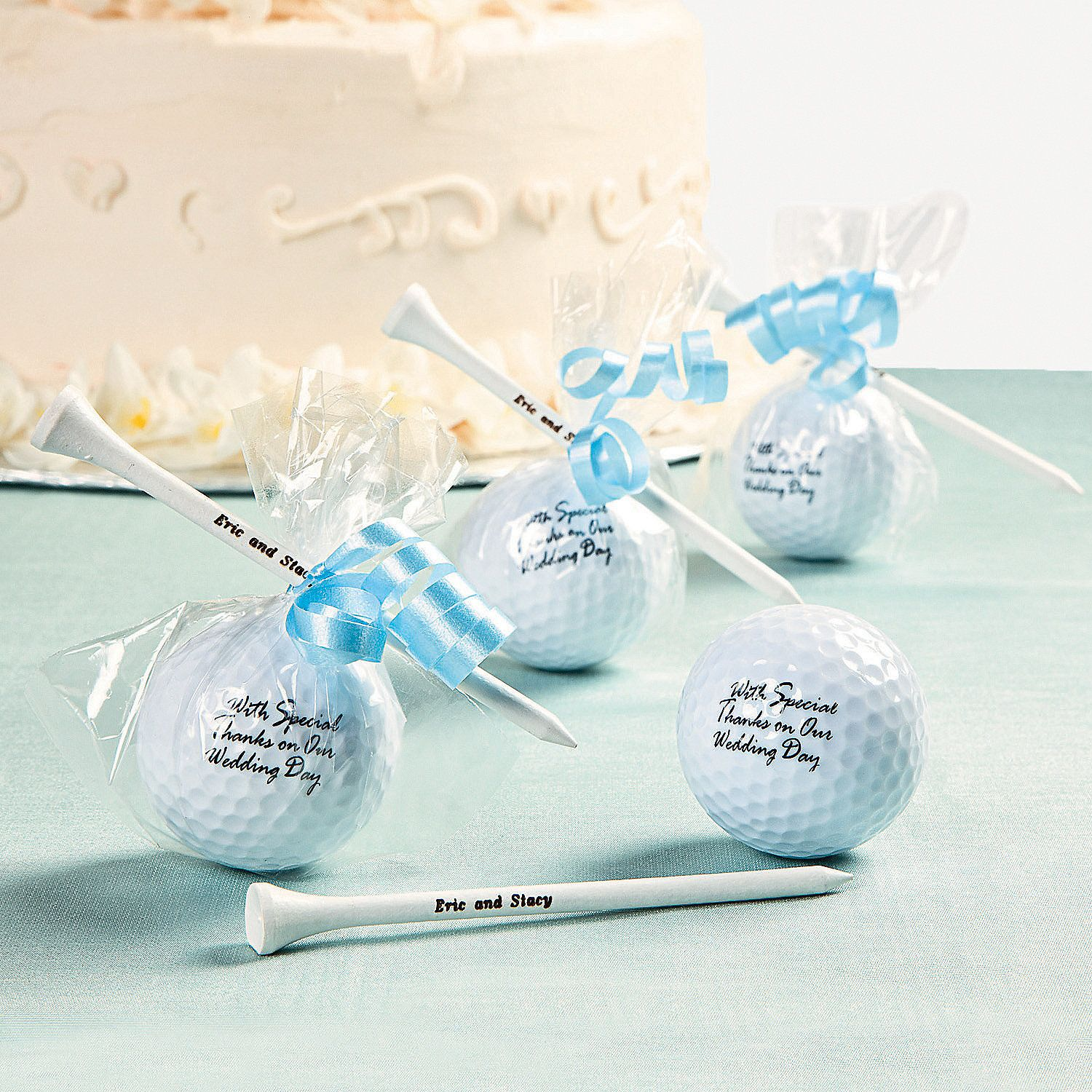 Golf Ball Favors - OrientalTrading.com Cute idea... Could do his ...