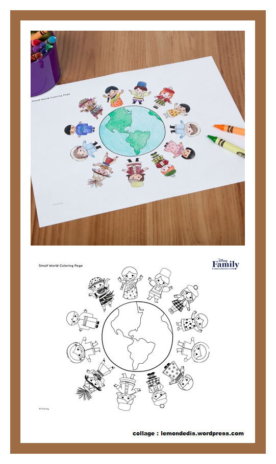 It S A Small World Coloring Page Disney Family Small World Coloring Pages Family Collage