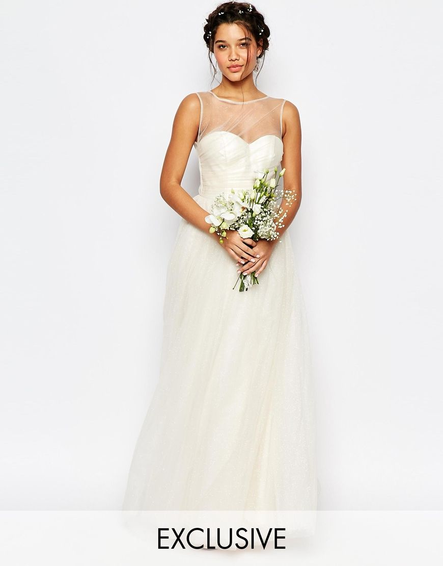 Image of chi chi london bridal tulle maxi dress i do pinterest