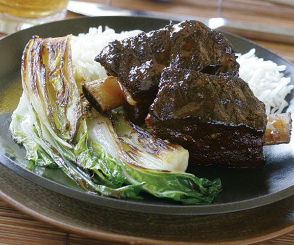 Asian-Glazed Braised Short Ribs #finecooking